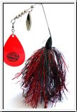 MUSKY MAYHEM CYCO SPINNER - BLACK RED RED